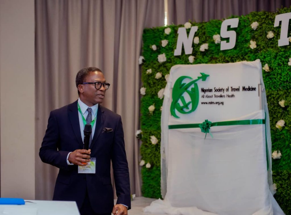 The NSTM Chairman unveiling the NSTM Logo at the Official Launch